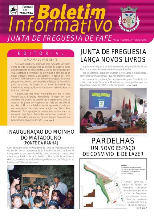 Boletim Informativo N.º 12 - Julho/2005