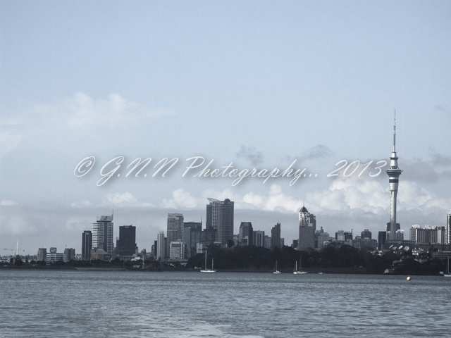 Auckland Harbour Bridge and Cityscapes...