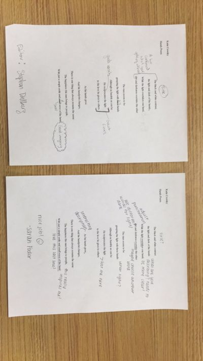 Descriptive Poem Peer Edits