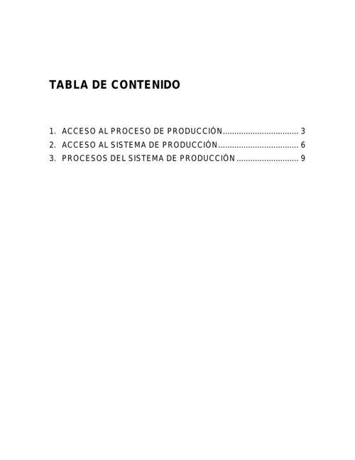 PRODUDCCION