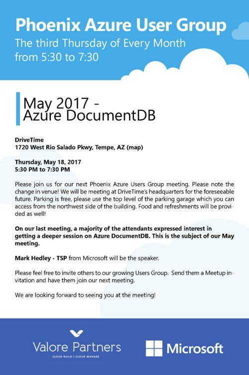 Azure UG May 2017