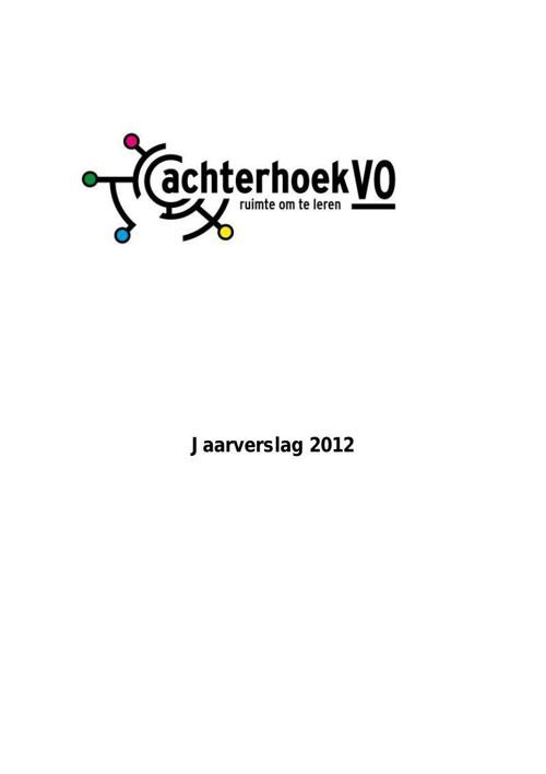 Jaarverslag 2012