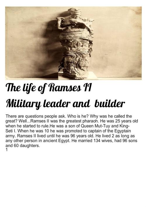 Ramses II life by Emma