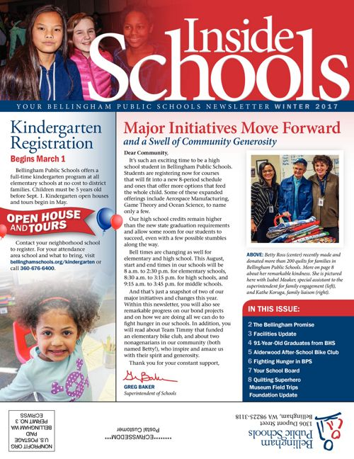 InsideSchools Community Newsletter, Winter 2017