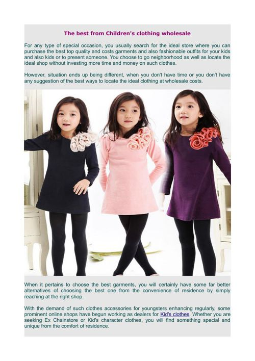 Get the best from children's clothing wholesale