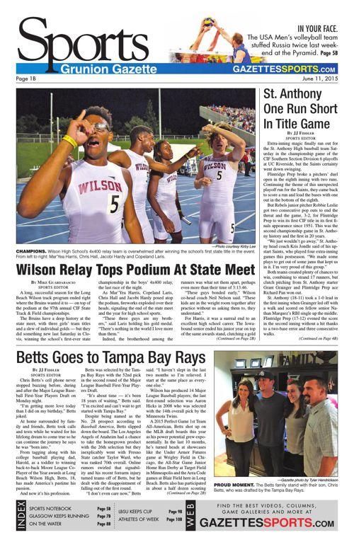 Gazette Sports | June 11, 2015