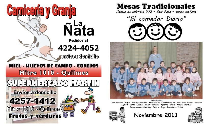 Revista de las Mesas Tradicionales - Sala Rosa - Noviembre 2011