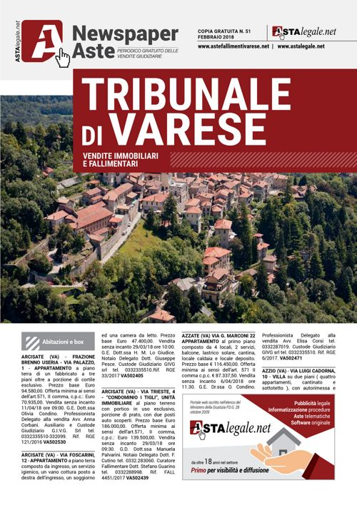 Varese febbraio 2018