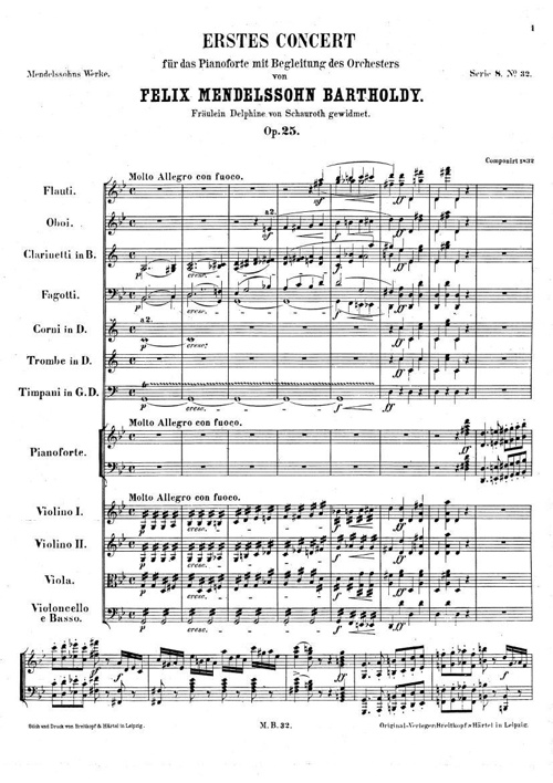 Mendelssohn Piano Concerto No. 1 Mvt. 1