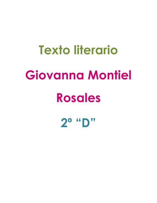 Texto literario - Giovanna Montiel
