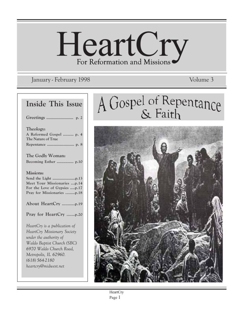 A Gospel of Repentance and Faith
