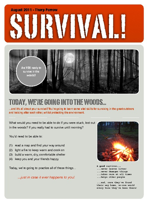 Thorp Perrow - Woodland Survival Day