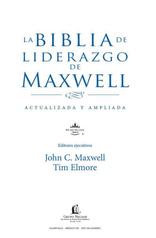 Biblia de Liderazgo John Maxwell