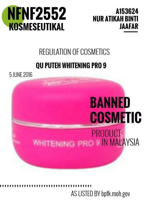 Cosmetic Product Banned In Malaysia