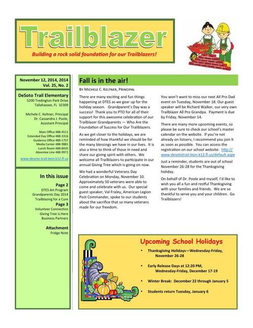 November Trailblazer Newsletter