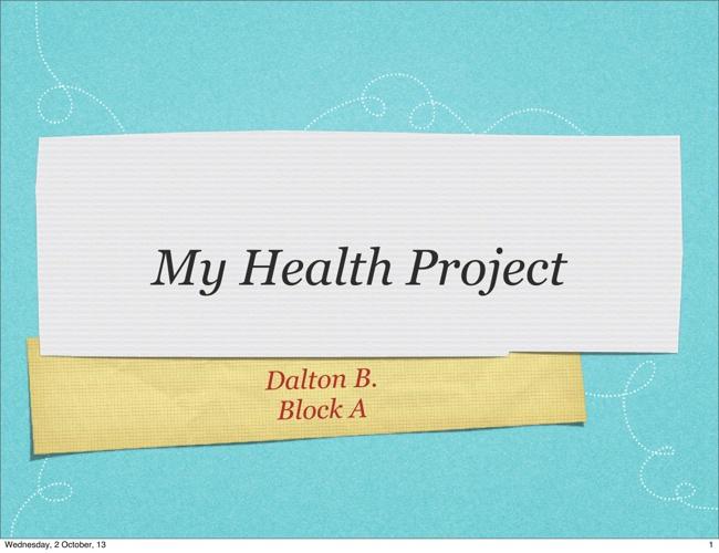 Dalton's Wellness Project