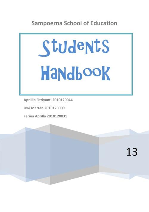 Sampoerna School of Education - Students Handbook