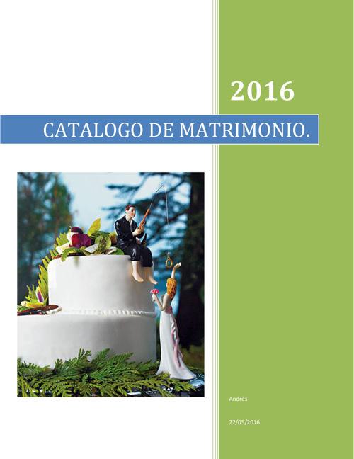 catalogo para matrimonio