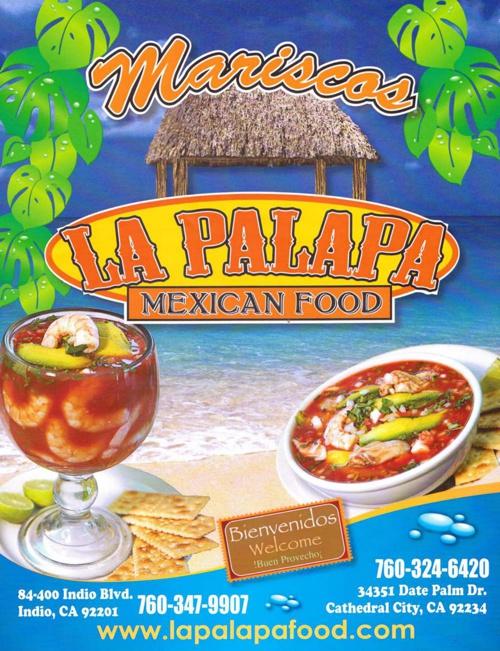 La Palapa Mexican Food Menu