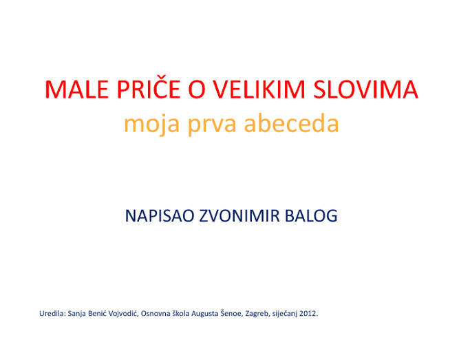 Copy of Male priče o velikim slovima