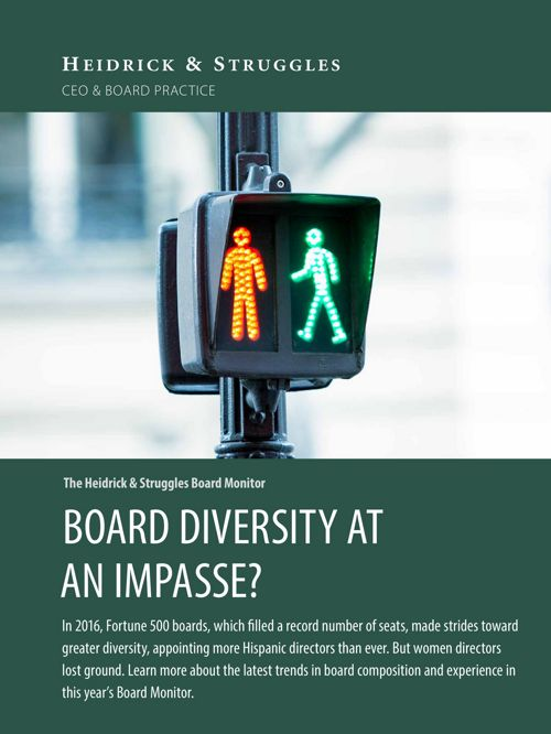 Board Monitor 2017: Board diversity at an impasse?