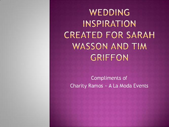 Wasson-Griffon Wedding 3.8.12