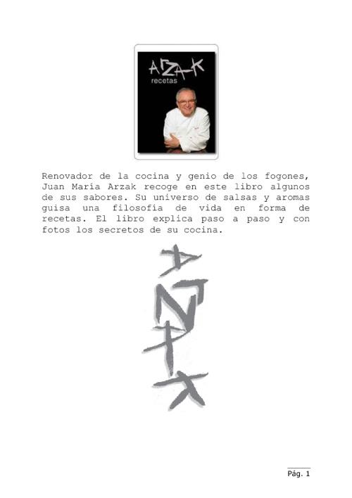 Recetas de Arzak