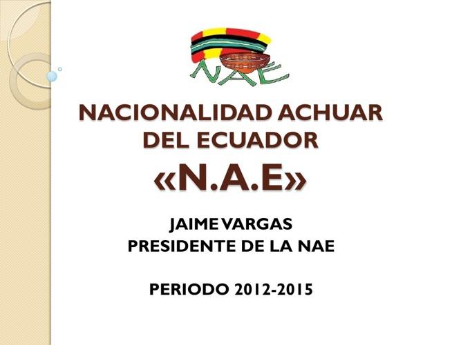 NACIONALIDAD ACHUAR DEL ECUADOR