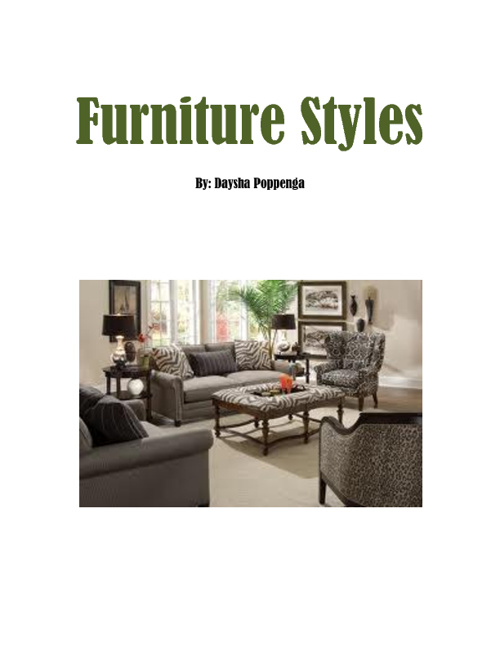 Current Furniture Styles