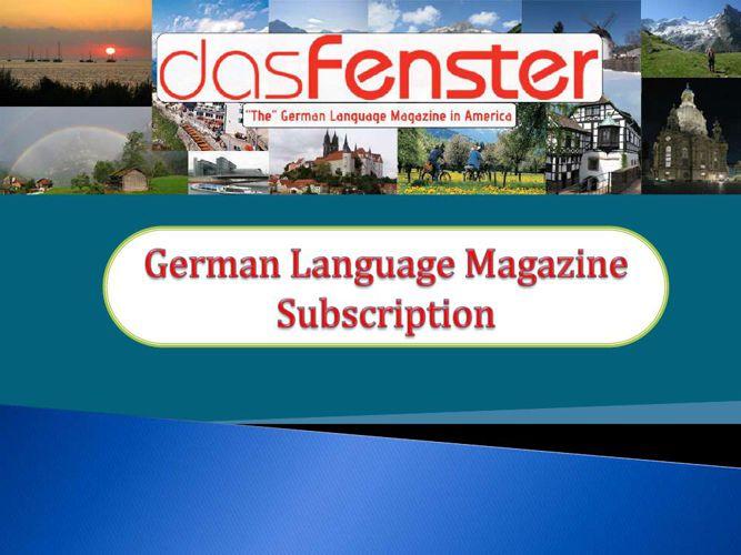 German Language Magazine Subscription