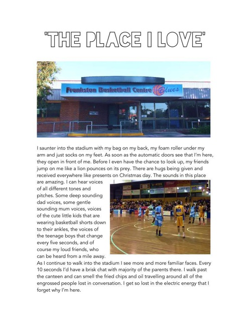 'The Place I Love'