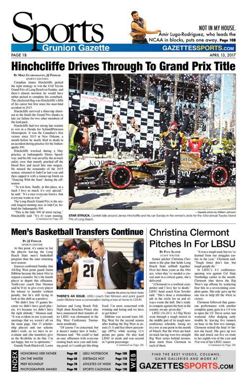 Gazettes Sports 4-13-2017