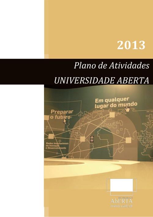Plano de Atividades 2013 - Universidade Aberta