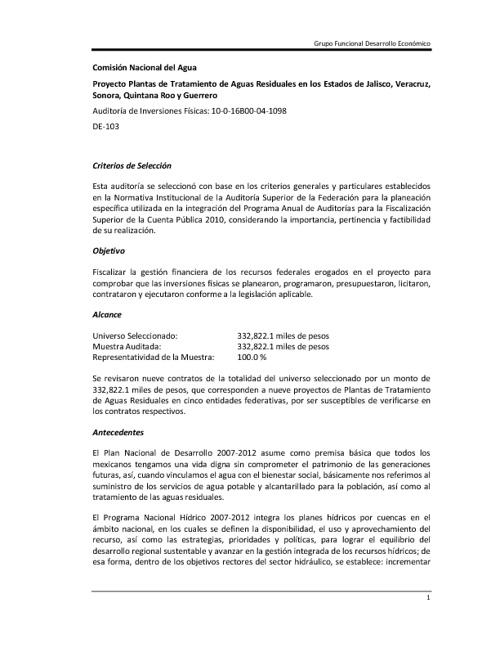 Tratamiento de Aguas Residuales en los Estados de Jalisco...
