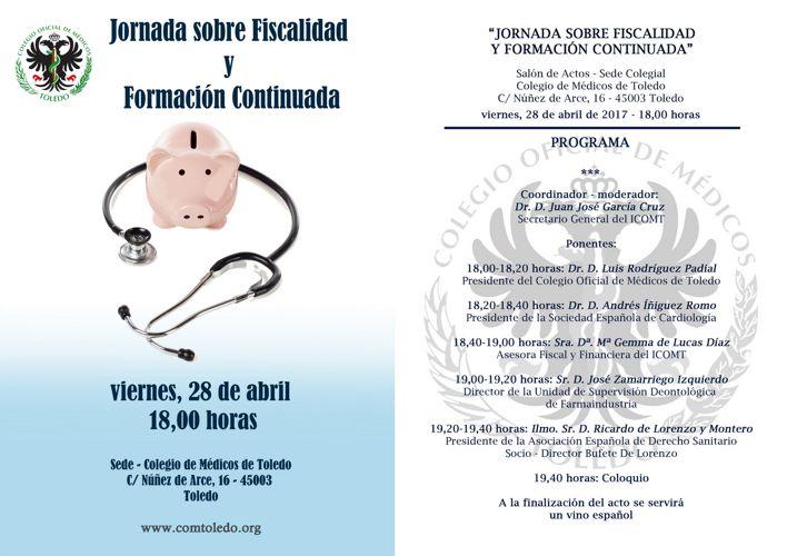 Programa Jornada Fiscalidad y Formación Médica Continuada ICOMT