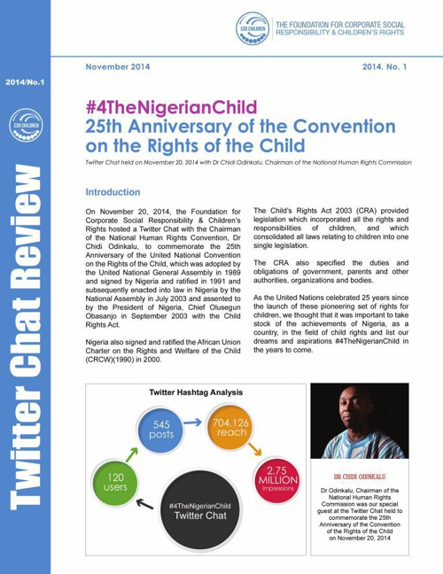 Twitter Chat Report - CSR Children