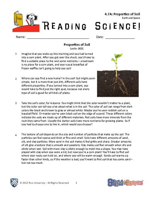 Science Properties of soil