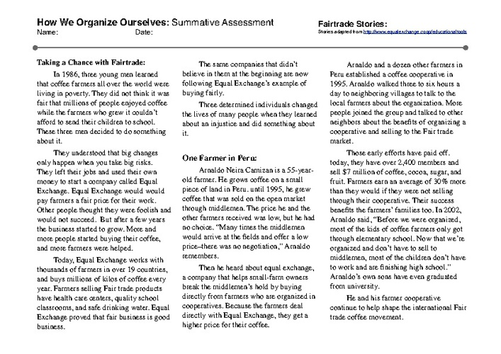 Aashika's How We Organize Ourselves Summative Assessment