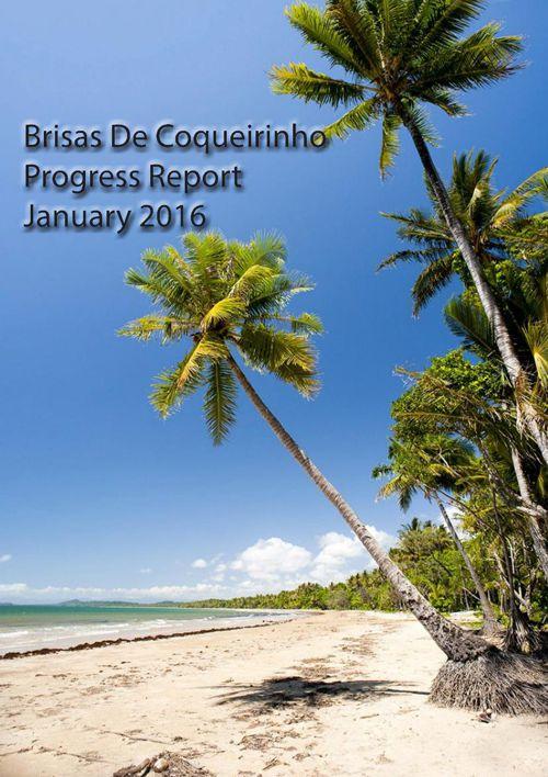 Brisas De Coq progress report jan 2016