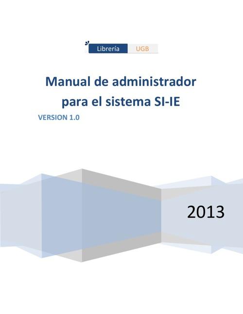 Manual de Administrdor