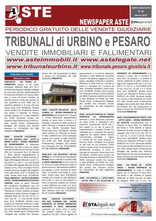 Pesaro Urbino marzo 2015