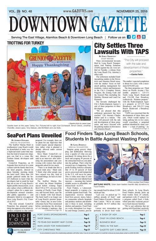 Downtown Gazette  |  November 25, 2016