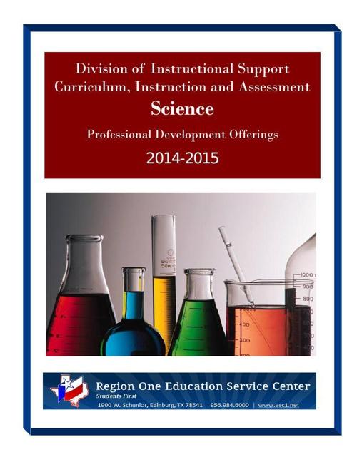 Science PD Brochure 2014-15