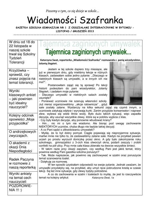 Wiadomości Szafranka  11/12/2013