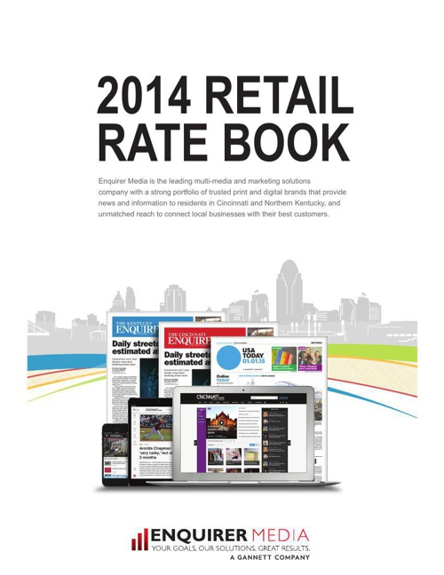 Enquirer Media Retail Rate Card 2014