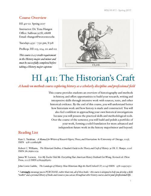 HI411Historian'sCraft-Spring2017