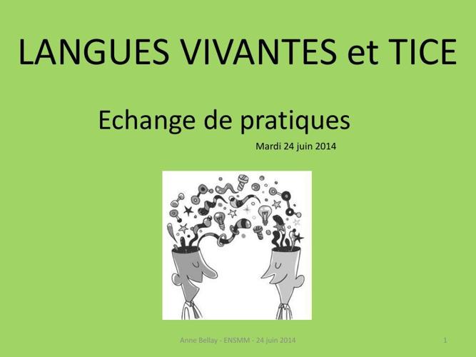 LANGUES VIVANTES et TICE