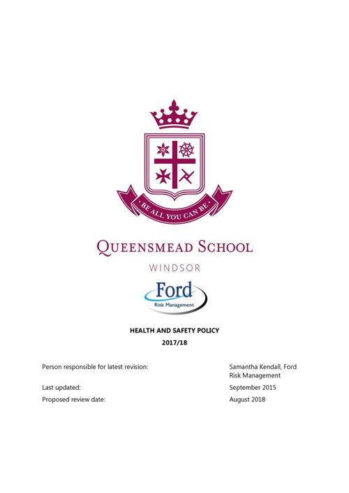 Queensmead Health and Safety Policy 2017 - 18