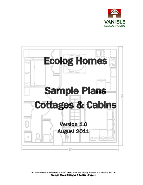 Ecolog Cabin & Cottage Plan Book