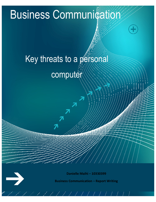 Key threats to a personal computer